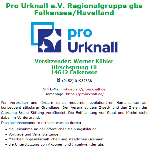 Pro Urknall auf Falkensee.de